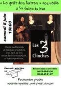 Les 3 Clinches en concert au restaurant «Le Goût des Autres»